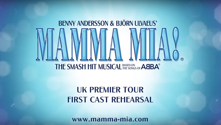 MAMMA MIA! UK Tour - First Cast Rehearsals