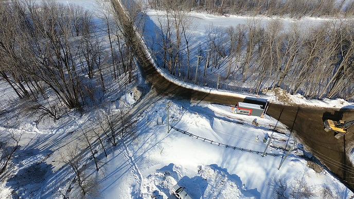 Construction des services d'aqueduc et d'égout sanitaire sur l'Iles Saint-Quentin et Saint-Christophe à Trois-Rivière