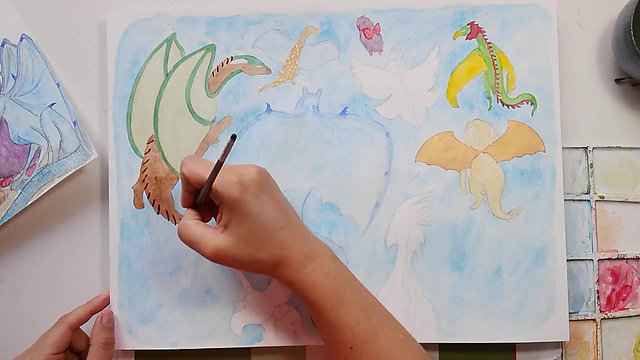 L'envol des dragons, illustration