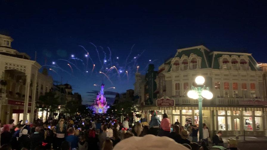 Fuegos artificiales en Disneyland París