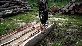 Black-Splitter Baggerspalter Kegelspalter Holzspalter registro de Splitter fendeuse log Wood