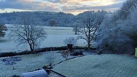 Pretty Tamar valley in the frost