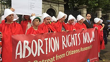 Handmaid's protest for Repeal in Ireland