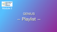 M 3.7 - Genius - Les playlists