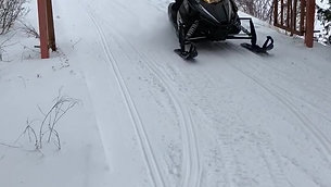 Snowmobile Trails at the end of street