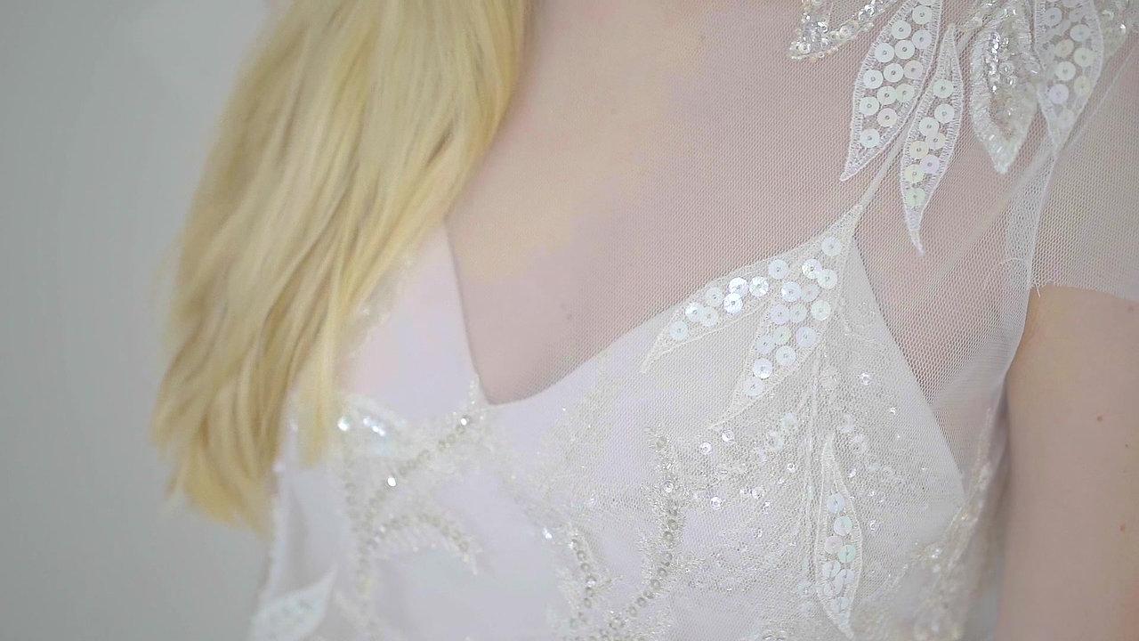 Paige wedding dress transformation