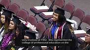 Haley Taylor Schlitz Graduation From TWU 2019 Chancellor Feyten