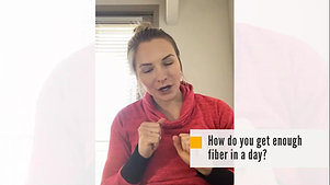 How do you get enough fiber in a day?