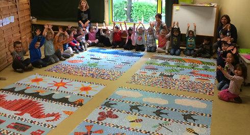 Ecole de la Bathie - fresque mosaique