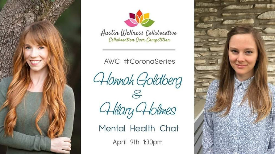 Mental Health Check-In & Tips w/ Psychiatric Nurse Practitioners, Hannah Goldberg and Hilary Holmes