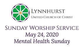 Mental Health Sunday - May 24, 2020