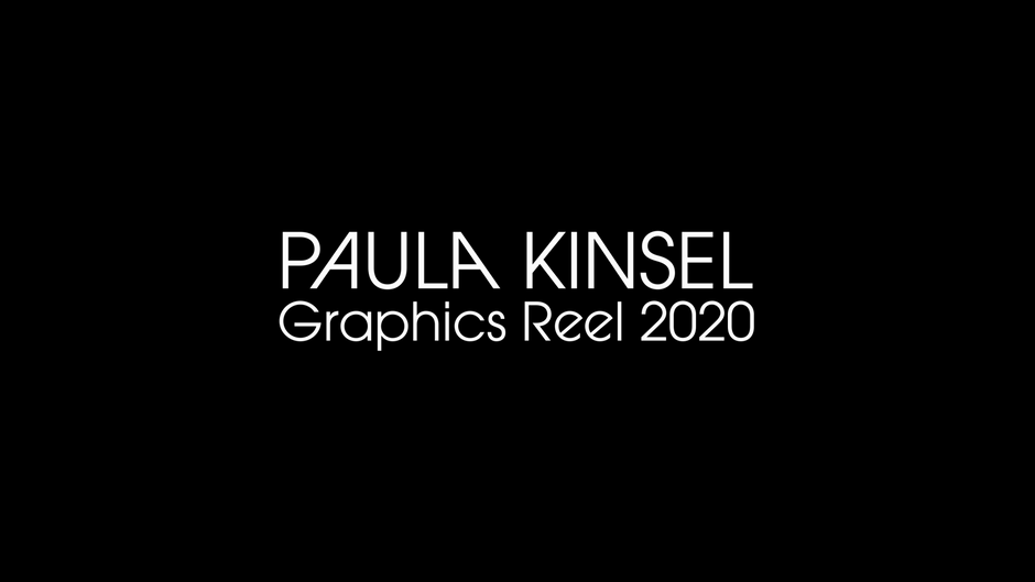 Paula Kinsel Demo Reel 2020