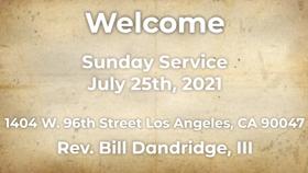 Sunday Service:7/25/2021 part 1