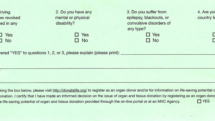 Instructions to Fill Out the Back Side of the Card