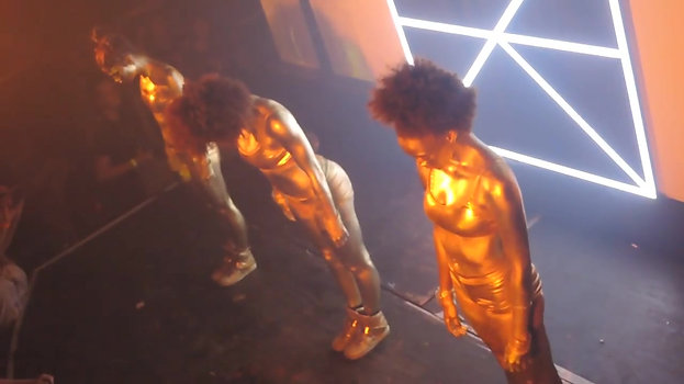 Bodypainted Dancers at HAEZER Live Show (2014)
