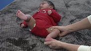 Foot Stretching on Newborn