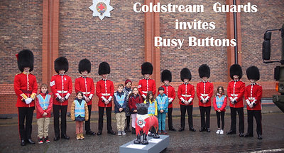 Busy Buttons CORE's Educational visits - Coldstream Guards