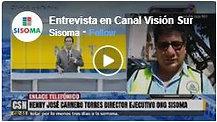Entrevista en Canal Visionn Sur