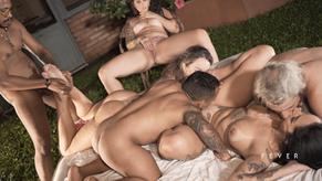 BR Pornstars: Orgia com Dread Hot, Elisa Sanches, Alê Maia, Nego Catra, Pistolinha, Alemão e Matheus Castro