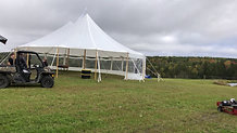 44x63 Tidewater Sailcloth Tent in Rangeley, Maine