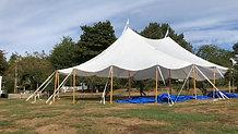 44x63 Sailcloth Tent at Live Well Farm