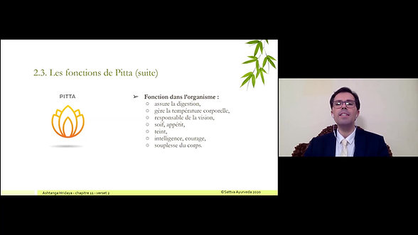 Session 3 - Dosha Vata et Dosha Pitta
