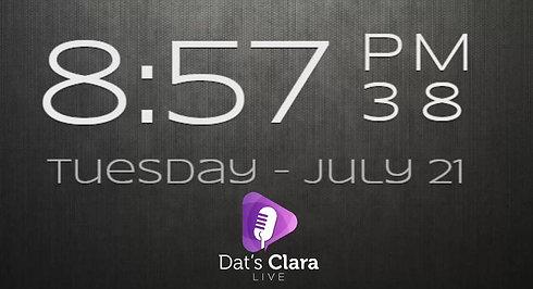 Dat's Clara Live 21/7/20
