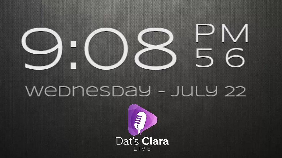 Dat's Clara Live 22/7/20