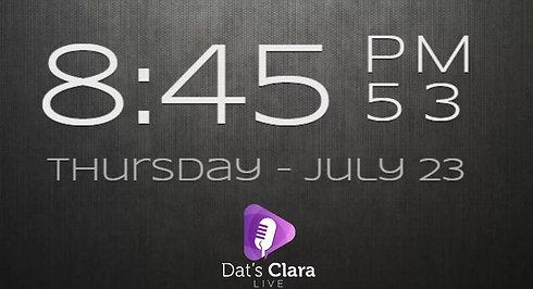 Dat's Clara Live 23/7/20