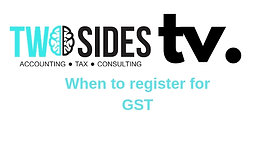 When to register for GST