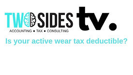 Is your active wear tax deductible?