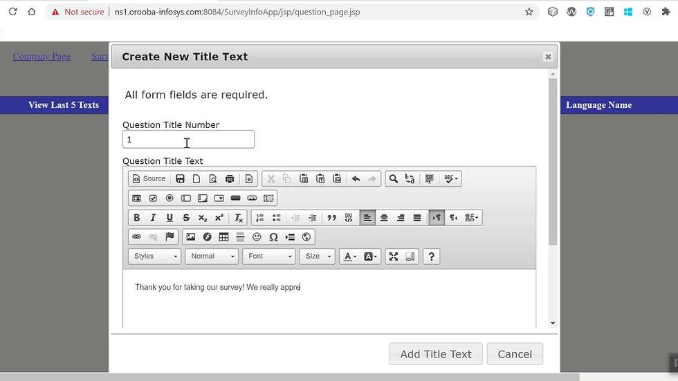 Create Simple Survey
