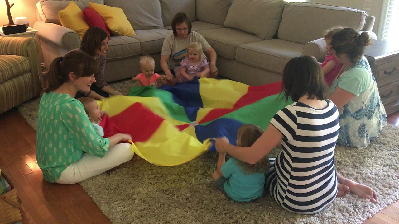 Parachute fun with Clap for Classics!