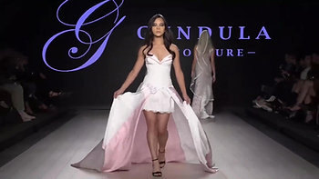 Ashley Pater walking for Gundula Couture
