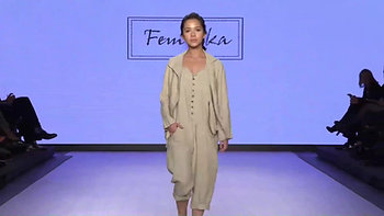 Ashley Pater walking for Femmka