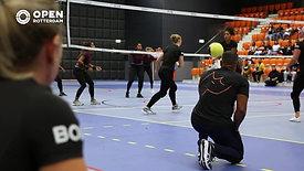 Premiere nieuwe sport ' Weightball' in Rotterdam