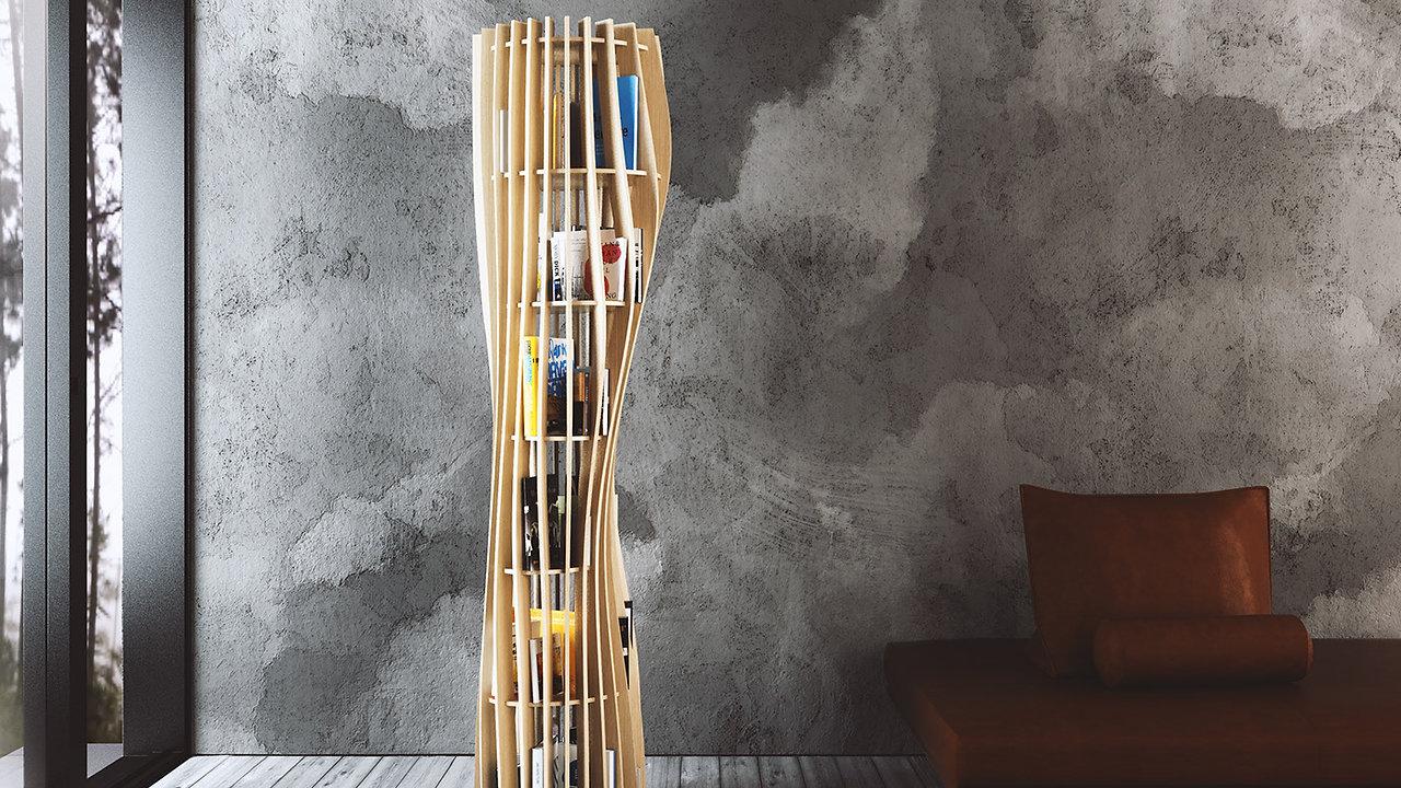 Bibliothèque ROUAH 200 - design Alexandre BOUCHER