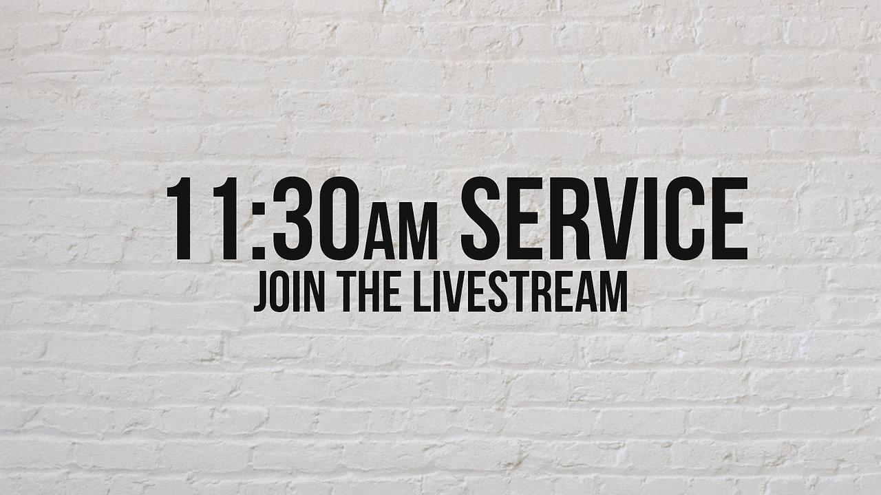 Sunday, March 29th, 11:30am Livestream
