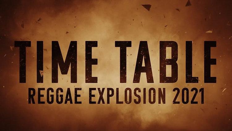 LINE UP REGGAE EXPLOSION 2021