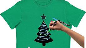 Christmas Tree Chalkboard T-Shirt