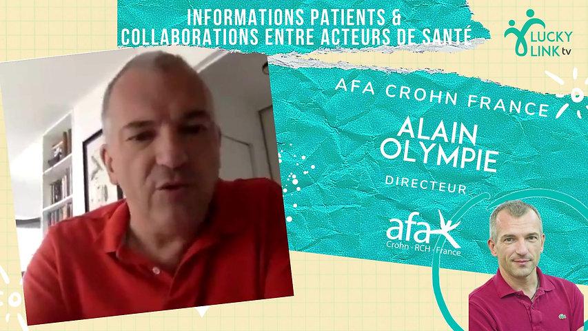 Teasing Alain Olympie, Directeur de l'Afa Crohn France
