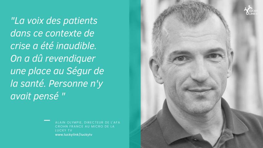 Interview Lucky Tv : Alain Olympie Directeur de l'Afa Crohn France