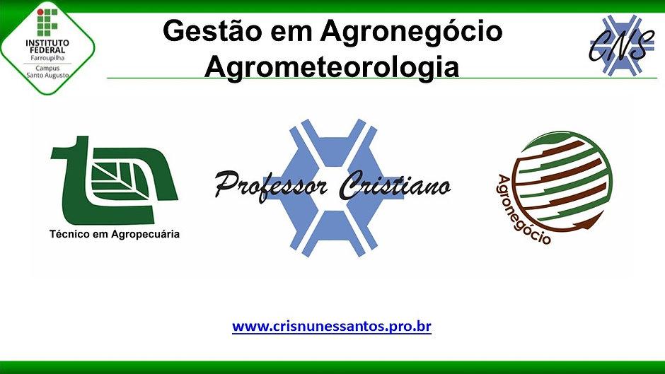Agrometeorologia - Gestão do Agronegócio