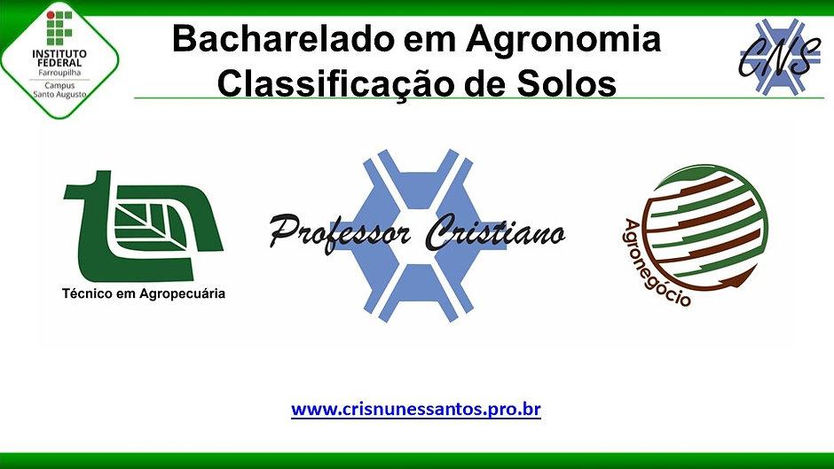 Classificação de Solos - Agronomia