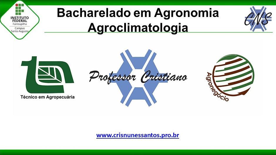 Agroclimatologia - Agronomia