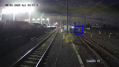 Train Track Night Detection