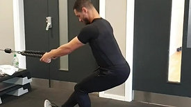 Cable lunge to pistol squat