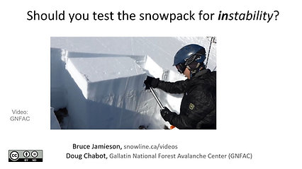 Should you test the snowpack for instability?