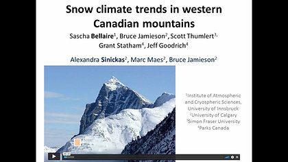 Has the snow climate changed in western Canadian mountains?