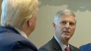 Chief Executive Officer of Hilton Christopher J. Nassetta Speaks with President Trump